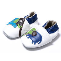 Wholesale toddler soft sole shoes moccasins leather shoes for infant cute elephant