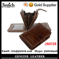 2016 New Fashion Custom Gift Men's Genuine Leather Wallet