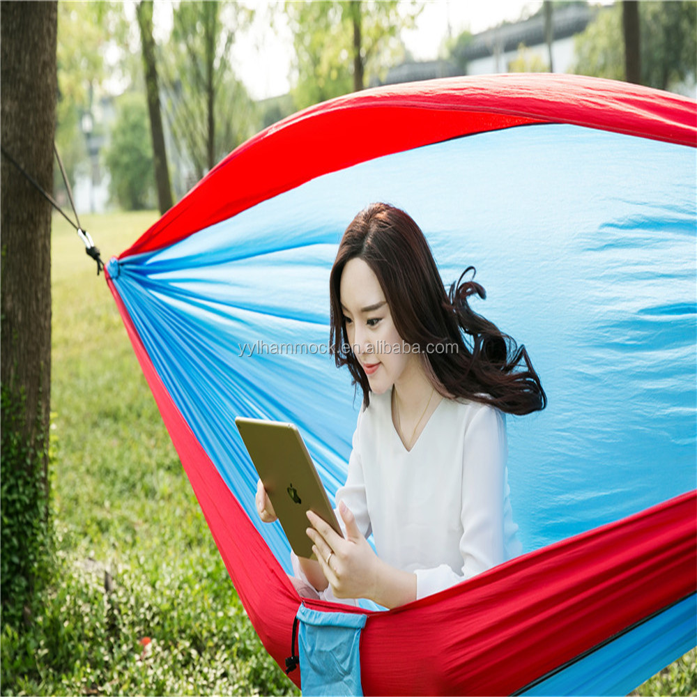 Nylon Parachute Outdoor Portable Double Hammocks For Camping Use