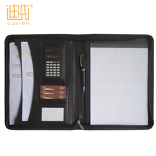 Factory wholesale best price travel PU leather A4 document holder tablet cover for ipad