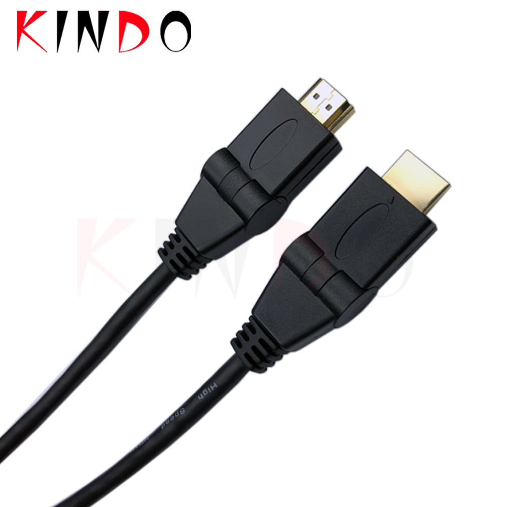 KINDO Gold-plated head 180 degree Swivel ABS shell   High Speed V2.0 hdmi support 4k   Right Angled Multi Angle