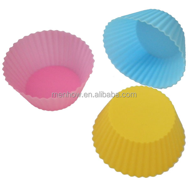 2017 simple food grade silicone muffin cake baking cup moulds