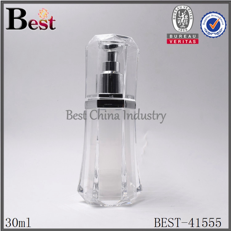30ml elegant airless pump bottle clear for sale