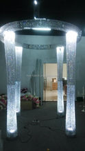 Newest ! 95inches tall crystal pillar stand , lighting hall for wedding decoration