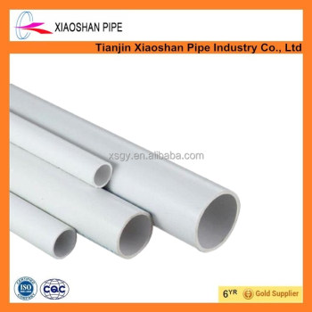 hot sale pvc plastic pipe water supply tube astm d2466 sch40 white color 1/2 inch