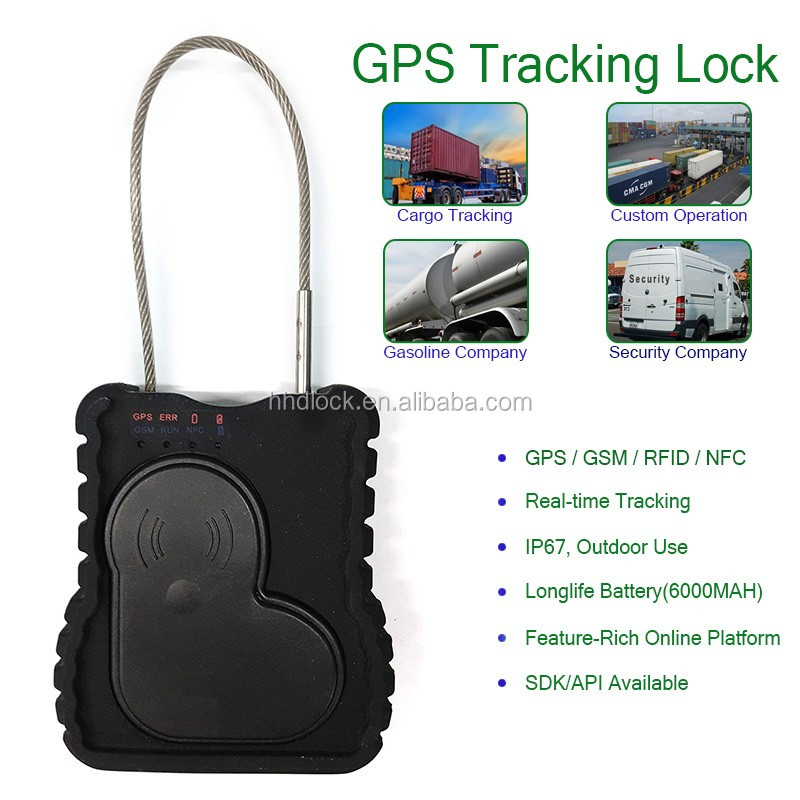 gps based metal high security rfid door cable e lock seal for truck container