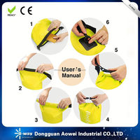 outdoor waterproof dry bag with a shoulder strap for swimming and diving