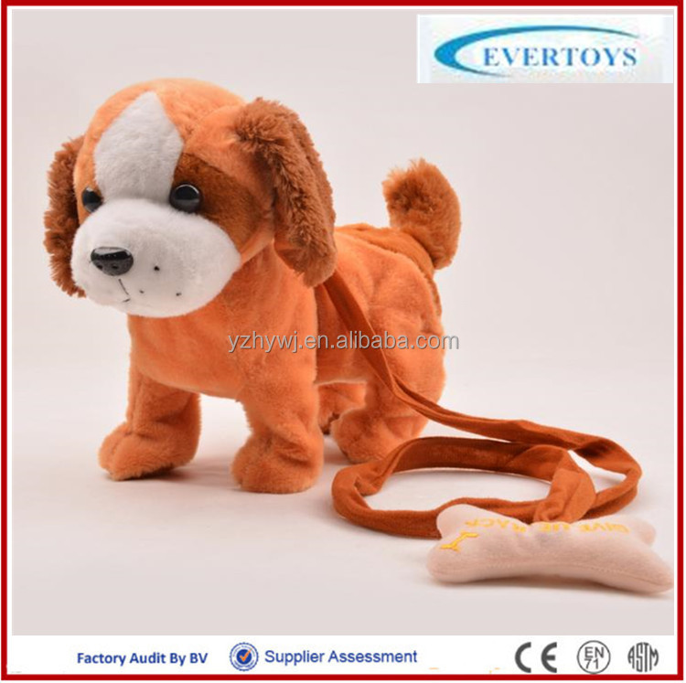 plush dog made in China plastic eyes of stuffed toys