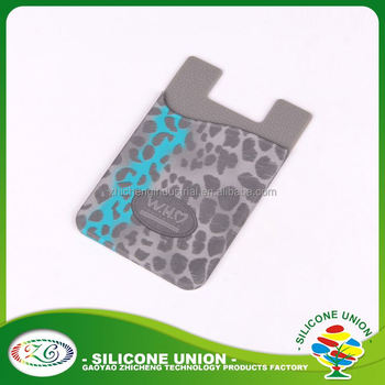 100% silicone CMIK universal sticky phone case card holder