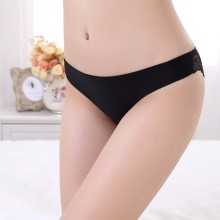 Women Slim Fit Underwear Transparent Low Waist Young Girl Underwear Models Sheer Sexy Lace Lady Underwear Seamless Panty