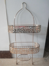 Fashion rose gold bathroom wall-hung type Shower caddy