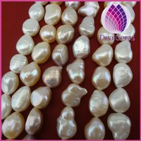 11-12mm smooth on both sides pearl natural pearl string