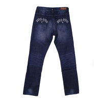 New style jeans pent men 100% cotton handbrush wrinkles plus size dresses denim jeans manufacture with OEM service