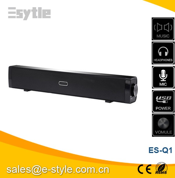 "2016 New 18"" laptop cheap soundbar 2.0 Channel short TV Soundbar, mini bar for sale for mini PC and IPad"