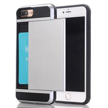 Combo TPU PC Rugged with card slot Hybrid Armor Phone Case For iphone 4s