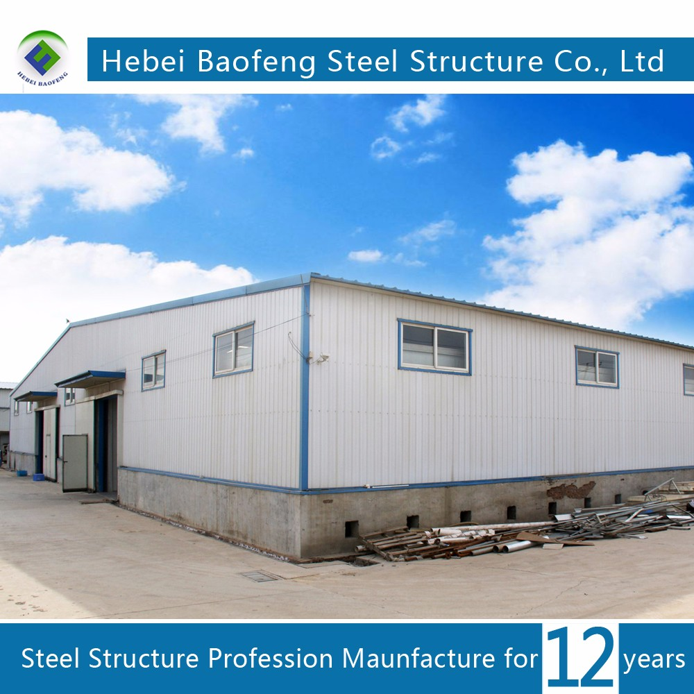 CE ISO Certificated economical steel building design and car garage garden shed Bengal