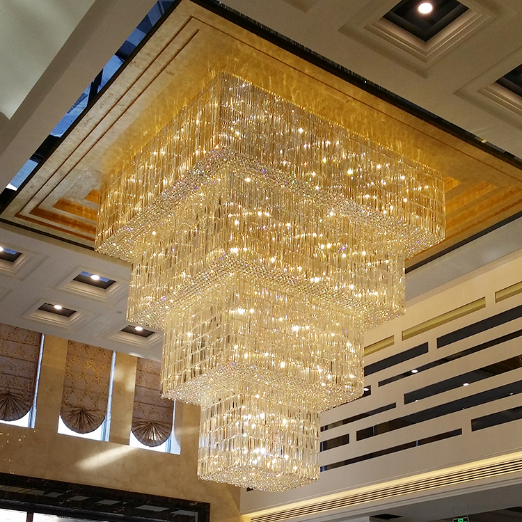 Zhongshan Contemporary Golden Crystal Lamps Pendant Indoor Lighting Chandelier
