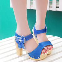 BOHEMIAN STYLE BOW SHOES HIGH-HEELED SANDALS