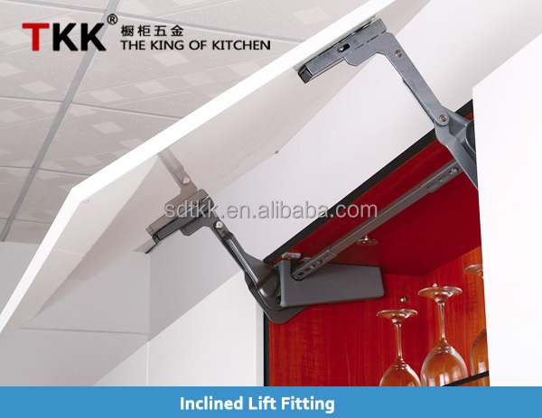 TKK Inclined Kitchen Cabinet Door Lifting Up Support Hardware