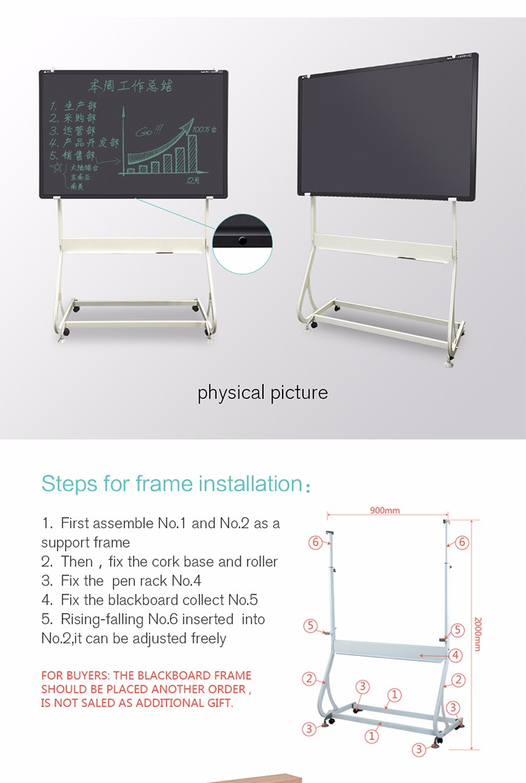 2017 2017 Hot Sale Product 57 Inch Projector Writing Board School Office Writing Board Stand Writing Board
