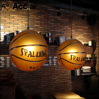 Personality creative arts restaurant for bar bedroom lighting led basketball soccer ball glass chandelier