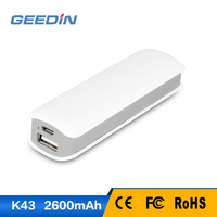 shenzhen consumer electronics 18650 battery portable power bank 2600mah mobile phone charger