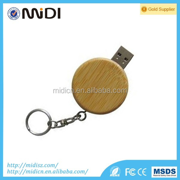 High quality USB Flash Drive 4GB/8GB/16GB/32GB/64GB Swivel wood Memory Stick