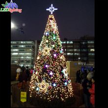 China professional artificial super bright giant ribbon christmas tree led lights tree