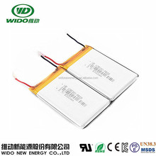 3.7v 5000mah li-ion battery 105080 rechargable lithium-ion battery for power bank