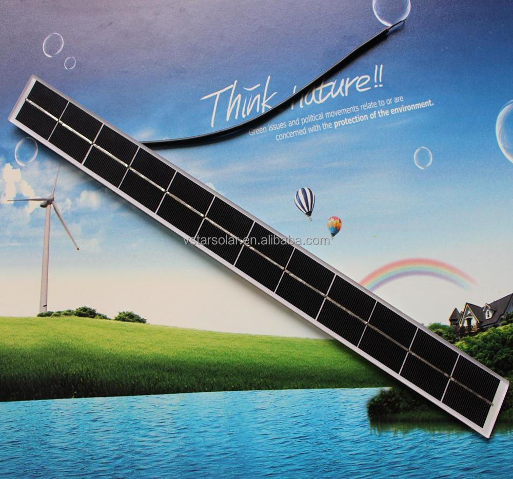 900*70*4.6mm 8W 6V Polycrystalline silicon slim solar panel for advertising box and window lighting