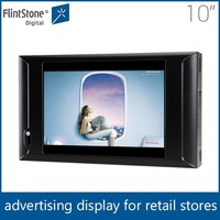 "Flintstone 10 inch lcd indoor led display, advert motion sensor video player, 10"" lcd monitor usb media player for advertising"