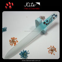 Rhinstones Glass Nail Files Cosmetic Beauty Nail Art Tools Emery Board