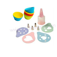 SS8751 21-Piece Silicone cupcake bake and cake decorating set/Cake Tools