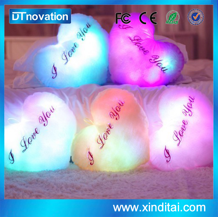 Creative Glowing Plush Pillow Led Colorful Stuffed Love Heart Toys