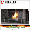 Indoor used tabletop bio ethanol fireplace glass decoration