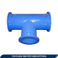 ISO2531 EN545 598 cast iron all flange tee