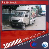 Changan 4*2 53hp mini led advertising mobile truck, used led mobile advertising trucks for sale