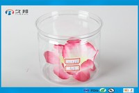 NEW!!! Airtight small clear plastic round cans with lids for candy tea coffee dry food and spice storge and so on