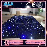 ACS LED Light Black Curtain, LED Stage Curtain,LED Christmas Decoration for sale