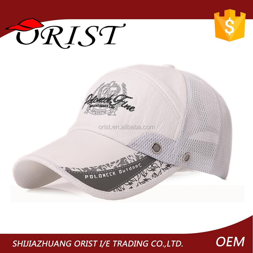 Dry Fit Cool Fabric Embroidery Hat Baseball Golf Cap Hat
