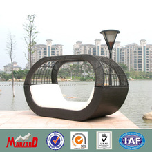 modern hotel outdoor garden furniture rattan heart daybed
