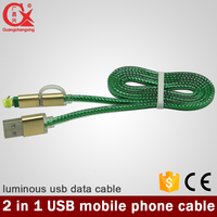 2016 new style high quality high speed with 2 in 1usb cable light