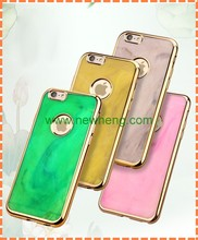 Newest Luxury PC Hard Plating Jade Grain Back Cover Case For iphone 5S SE