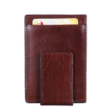 Funky RFID blocking leather magnet wallets