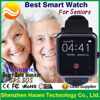 Customized Medical Level1.6 inch Translucent Touch Screen Smartwatch Connect to Phone APP for Seniors Mobile Watch Phone