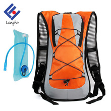 Wholesale Nylon outdoor climbing trekking waterproof hydration backpack with 2 L water bladder