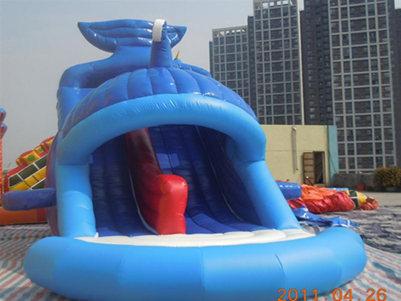 water pvc tarpaulin inflatable slide new bouncer toy cartoon character water slide for adult with CE certificate