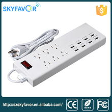 High quality universal USB power strip USA socket charger outlet usb electrical adapters and switch