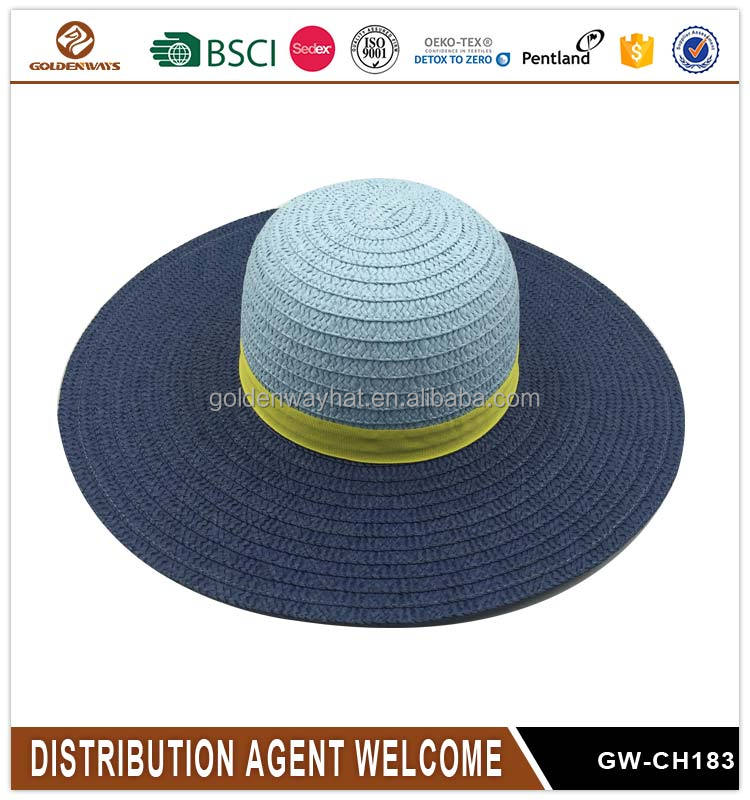Best selling custom design lady paper straw hat wholesale china