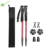 3 Abschnitte 7075 Aluminium Ultralight Retractable Nordic Telescopic Walking Trekkingstöcke / -stöcke mit Antishock-System